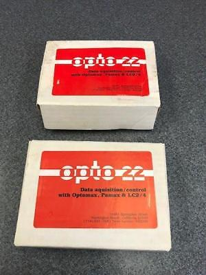 Lot Of 2 Opto Model Pb4r Data Aquisitioncontrol With Optomux Pamux Lc24