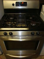 Frigidaire stainless steel gas stove,with self clean oven