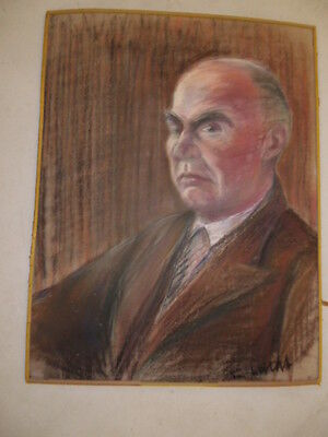 Johannes Fürst v.Thurn und Taxis?, original, alte Kreidezeichnung, Porträt, Gemä