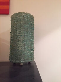 Recycled glass unusual table lamp