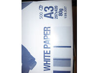 Paper for office printing photo copy. A3 size bright white 80gms