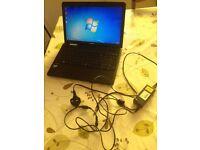 Toshiba Laptop - 500GB HD - 4GB RAM - i3 processor - Windows 7