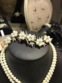 Designer hair slide bought from Carina Baverstock boutique store