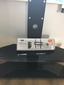 TV stand with wall mounted bracket