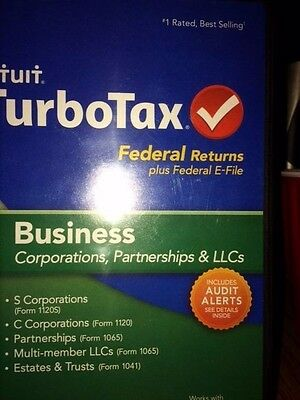 2009 Intuit Turbotax For Business  Corporation  Partnership   Llcs  Free Ship