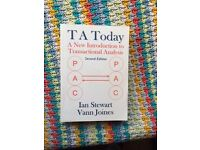 T A Today (transactional analysis) by Ian Stewart and Vann Joines