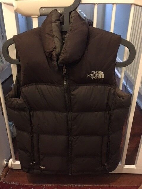North Face Body Warmer, Brown, XS