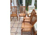 Oak chairs - set of 4