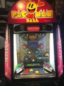 PacMan Ball 10p Pusher Arcade Machine