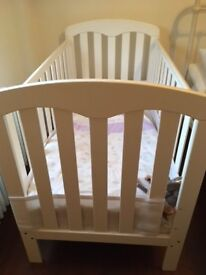 John Lewis Rachel cot bed - great condition - with John Lewis sprung mattress and Airwrap bumper
