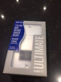 Schneider GET Ultimate Ultra Slim Shaver Socket- Brand New