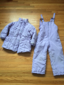 Snowsuit for girls, size 5 yrs.