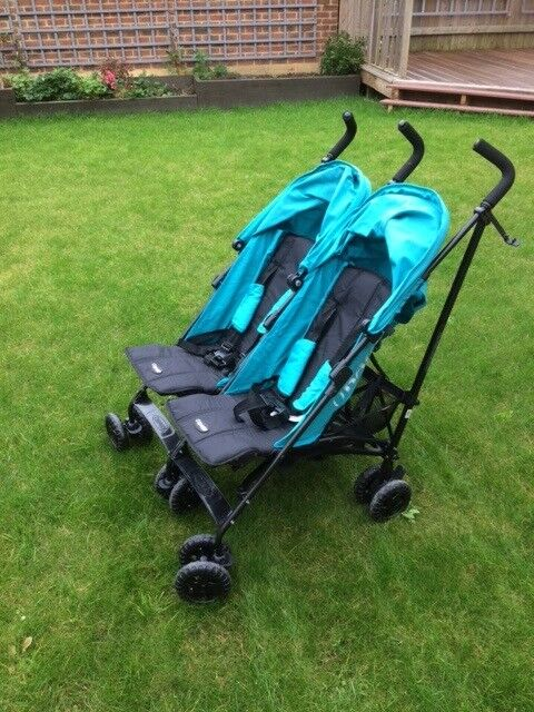 O'Baby Double Pushchair complete with raincover