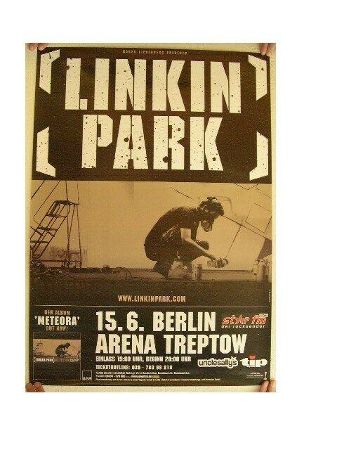 Linkin Park German Tour Poster Berlin Concert