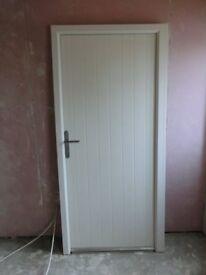 White Solid Composite Door