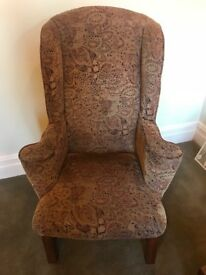 High Winged Back Arm Chair