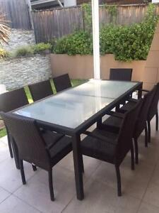 12 Pcs Wicker set - Table + 8 chairs + 2 sun beds + 1 side table Willoughby Willoughby Area Preview