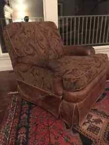 "Brown ""BarcaLounger"" reclining easy chair"