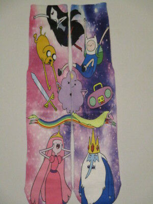 - galaxy adventure time socks BUY any 3 GET 4TH PAIR FREE pop culture ODD SOX