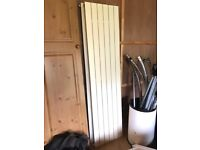 2 x White Wall Mounted Flat Panel Modern Slimline Horizontal Radiators