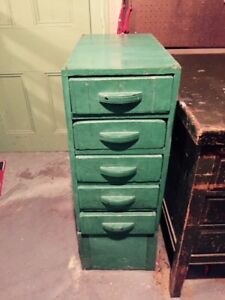 Old wooden filing cabinet.