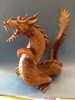 Wooden Dragon Statue