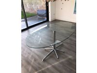 Dwell Glass Oval Dining Table