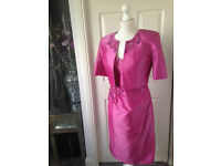 Stunning designer JOHN CHARLES Mother of ther Bride outfits dress jacket 10-12