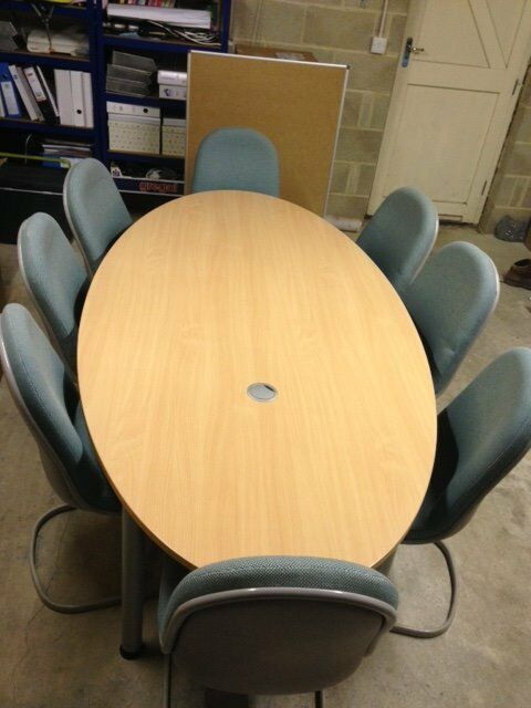 Large Oval Conference Table Seats Plus Chairs For Sale - Oval conference table for 8