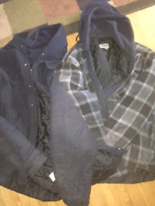 (2) Dakota XL lined work jackets with hoodie for sale  St. Catharines