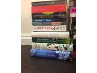 Books - contemporary fiction, 17 paperbacks and 3 hardbacks