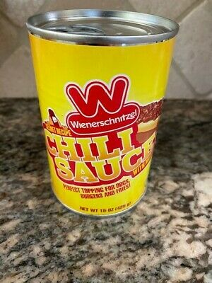WIENERSCHNITZEL CHILI SAUCE IN CAN secret recipe limited (NEW Single 15 OZ Can)