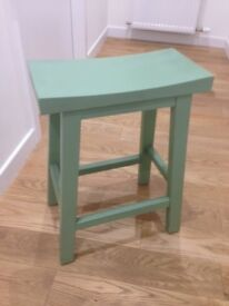 For Sale: Green Wooden Stool