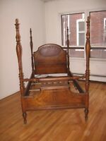 1930's Pineapple FOUR POSTER TWIN 4pcs Bedroom Set
