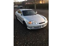 Silver Hyundai Coupe v6 2.7 £1150, over £1000 spent recently to run perfectly