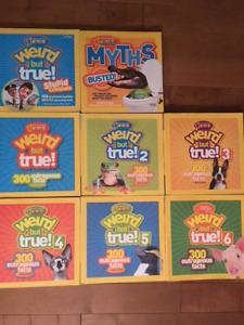 Weird But True Books- set of 8