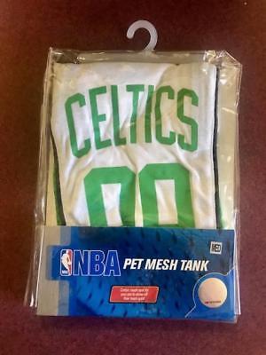 Boston Celtics NBA Pet Dog Basketball Jersey Mesh Tank Green Medium M