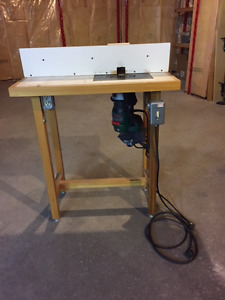 Router table and 10 bits