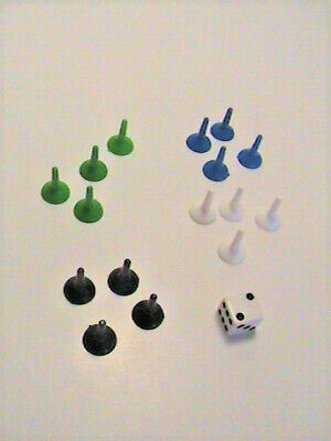 Sorry / Clue / Snake & Ladder Starting Pieces Board Game Replacement Parts Pions, used for sale  Saint-Marc-des-Carrieres