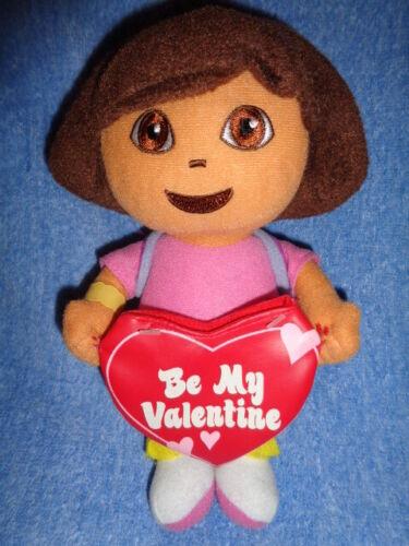 Doll Dora the Explorer stuffed plush Girl 2007 Be My Valentine Heart gift pouch