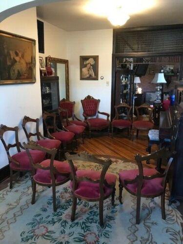 Set of 11 Victorian Renaissance Revival Parlor Chairs