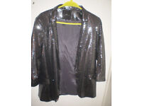 womans river island sequened jacket nr new size 10