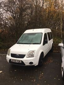 FORD TRANSIT TOURNEO CONNECT 2005 - 5 SEATER VAN / CAR 1.8 DIESEL, WHITE