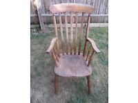 ANTIQUE HIGH BACK CHAIR moving house