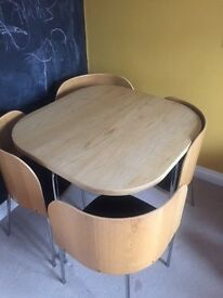 Ikea Table and 4 chairs - perfect for limited space! Great condition. size 84cmx84cm height 75cm