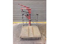 Vintage industrial platform weighing scales
