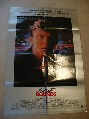 Out of bounds - Poster signed by Anthony Michael Hall