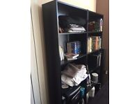 Ikea Bookcase - Shelving Units - Display Cabinets - Free standing, comes as 2 x units (BLACK)