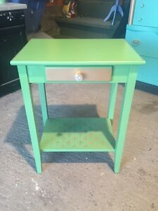 Unique / OOAK / Refinished / Restyled End Table / Occasional