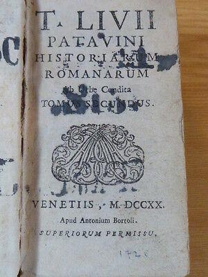 Buch Livius Historiarum Romanarum Bortoli 1720 Rom 2 Band Geschichte